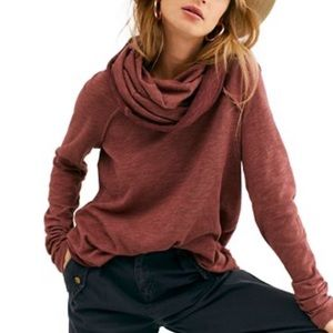 Free People Cocoon Cowl Neck Pullover Top